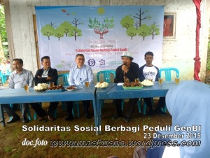 Solidaritas Sosial Berbagi Peduli GenBI bersama Gunung Slamet Hijau Desa Baseh Kecamatan Kedungbanteng Banyumas