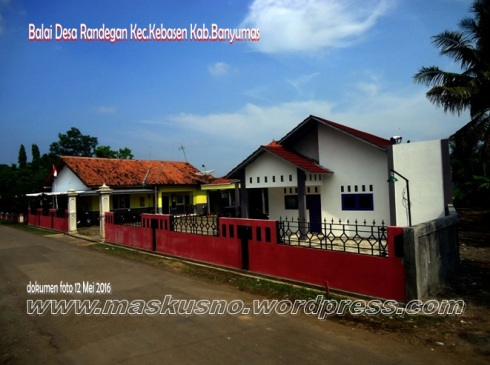 Balai Desa Randegan Kecamatan Kebaseh Kabupaten Banyumas